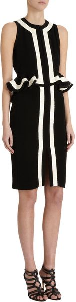 Altuzarra Trimmed Peplum Dress - Lyst