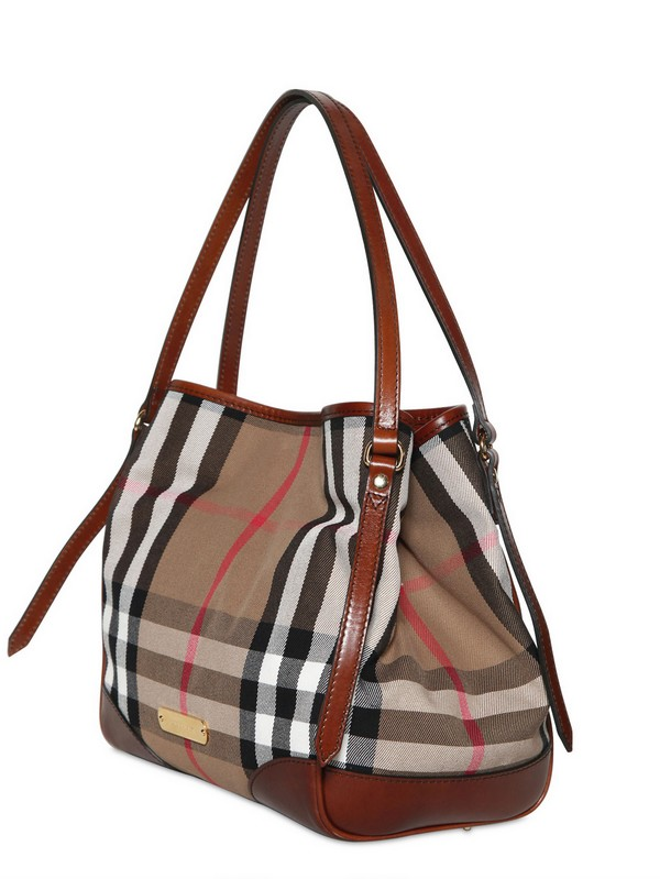 ba082c2b67b Burberry Small Canterbury Bridle House Check Bag in Brown - Lyst
