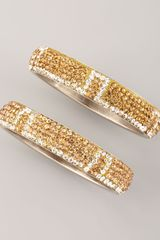Chamak By Priya Kakkar Pave Bangles Set Of Two - Lyst
