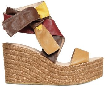 Chloé 90mm Nappa Leather and Rope Wedges - Lyst