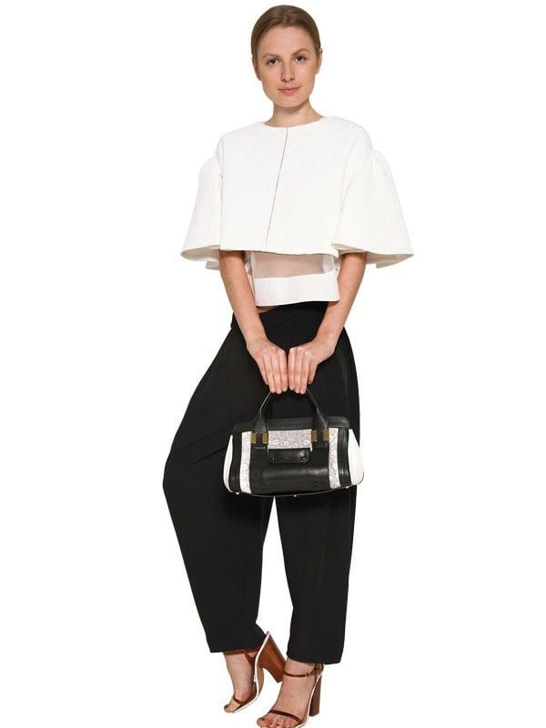 Chlo�� Mini Alice Lizard Print Shoulder Bag in White | Lyst