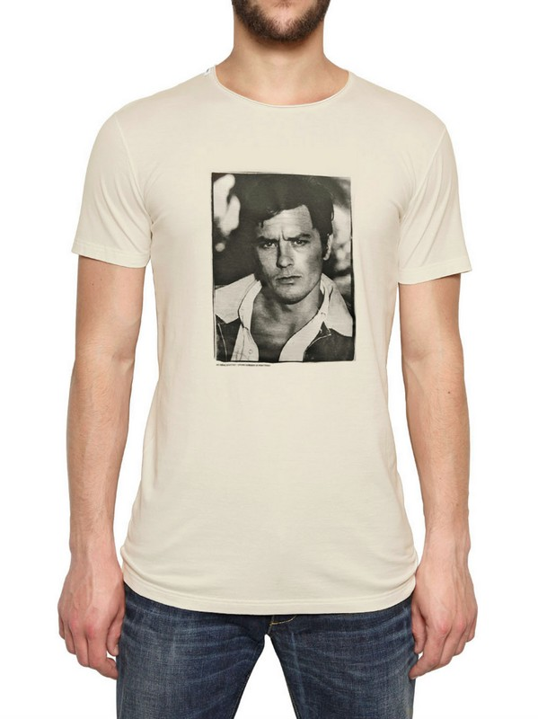 bb643fe663a094 Lyst - Dolce   Gabbana Alain Delon Print Cotton Jersey T-shirt in ...