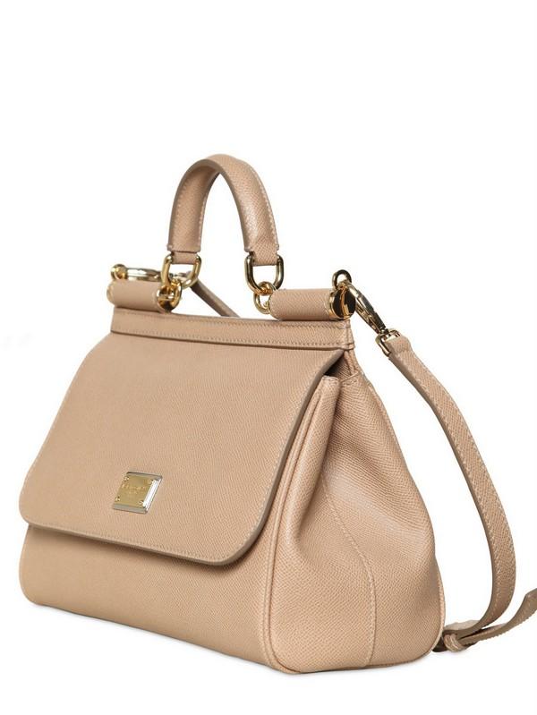 Lyst - Dolce   Gabbana Medium Miss Sicily Saffiano Leather Bag in ... 2f8eb860f5a86