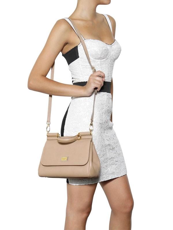 803307087b Lyst - Dolce   Gabbana Medium Miss Sicily Saffiano Leather Bag in ...