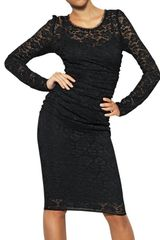 Dolce & Gabbana Silk Viscose Stretch Lace Dress - Lyst