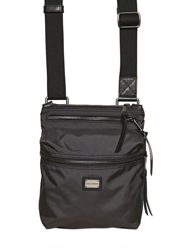 Dolce   Gabbana Nylon Flat Shoulder Bag in Black for Men - Lyst 912f48e675543