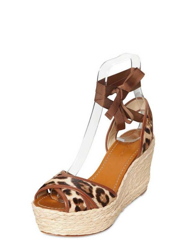 Lyst Dolce Amp Gabbana 100mm Leopard Print Pony Skin