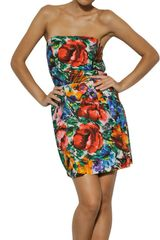 Dolce & Gabbana Flower Macro Print Cotton Poplin Dress - Lyst