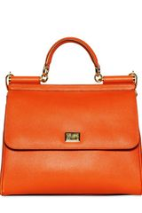 Dolce & Gabbana Miss Sicily Saffiano Leather Top Handle - Lyst