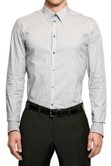 Dolce & Gabbana Striped Cotton Poplin Stretch Shirt - Lyst