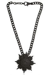 DSquared2 Matt Brass Flower Pendant Necklace - Lyst