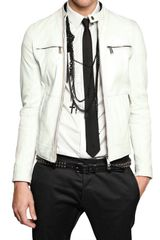DSquared2 Dan Biker Soft Nappa Leather Jacket - Lyst