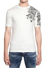 DSquared2 Flower Puff Print Cotton Jersey T-Shirt - Lyst
