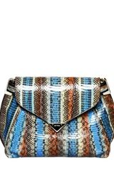 Etro Watersnake Clutch - Lyst