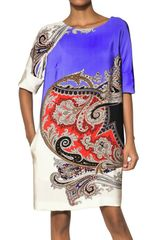 Etro Printed Silk Jersey Dress - Lyst