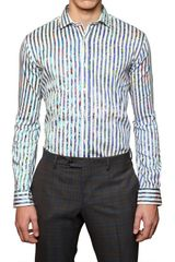 Etro Polished Stretch Cotton Slim Fit Shirt - Lyst