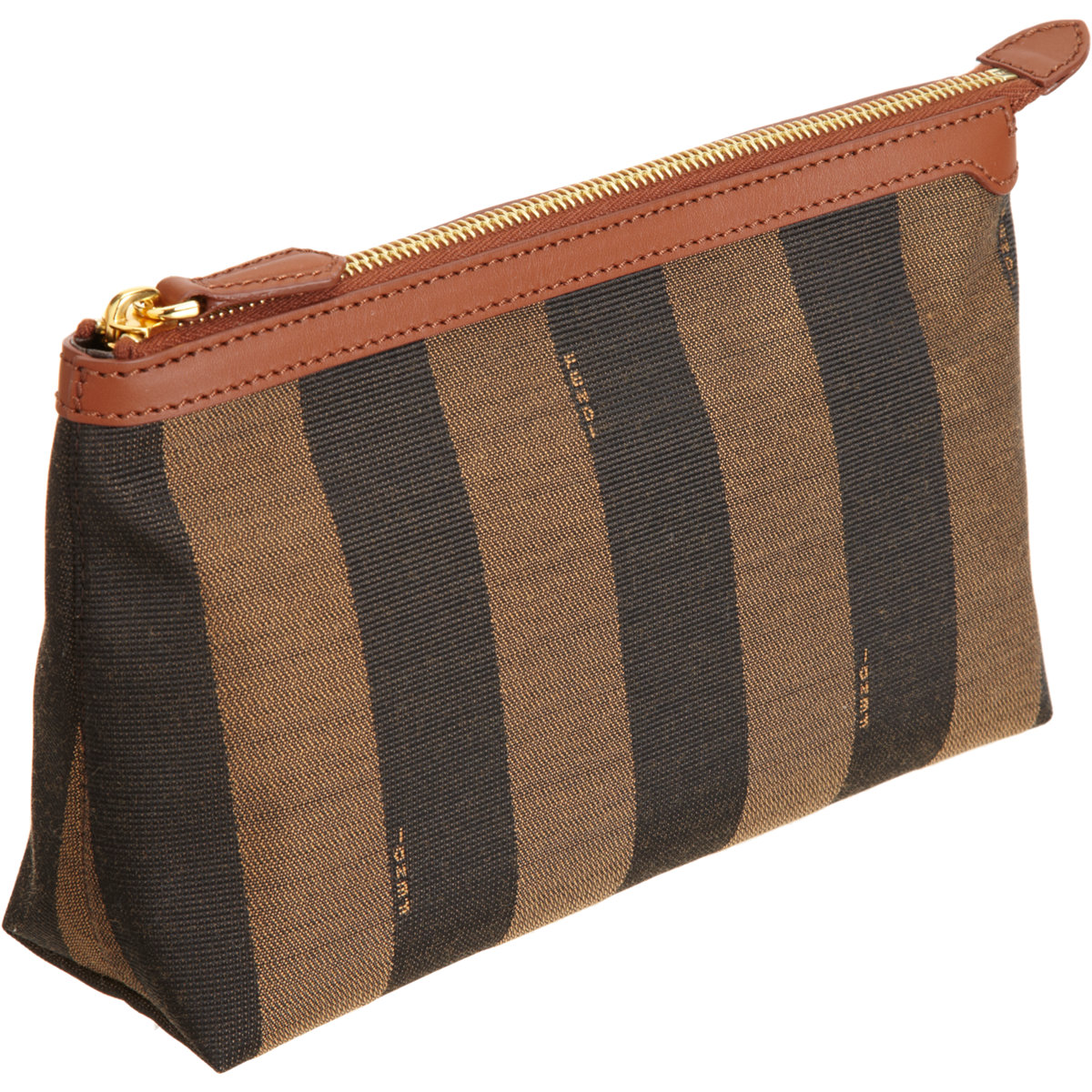 aff6015bf65 ... order fendi pequin large cosmetic bag in brown lyst 61bbf 1ba08