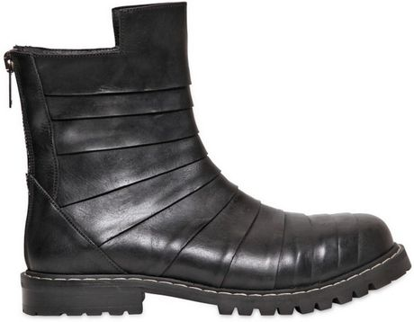 gareth pugh kombat leather boots in black for lyst