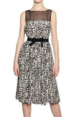 Giambattista Valli Polka Dot Print Crepe De Chine Dress - Lyst