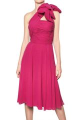 Giambattista Valli One Shoulder Silk Georgette Dress - Lyst