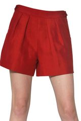 Giambattista Valli Silk Cotton Gauze Shorts - Lyst