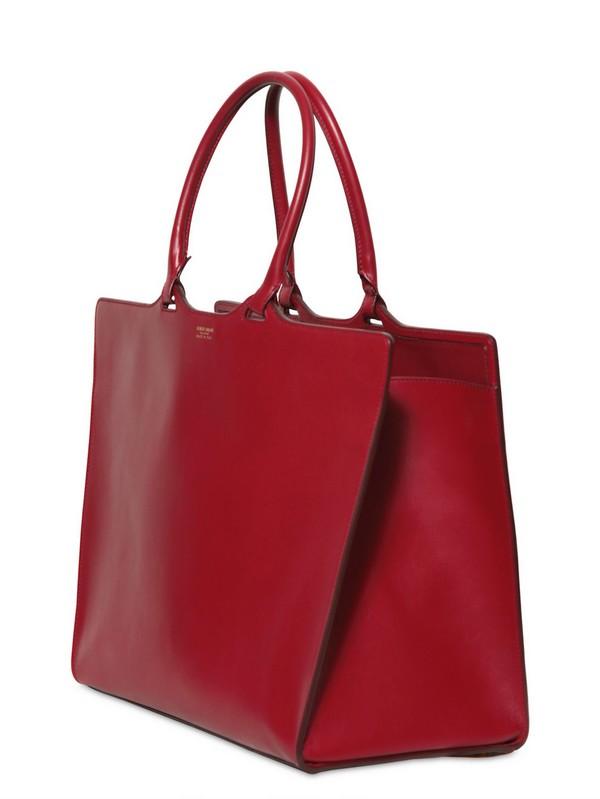 e07f896e69ad Lyst - Giorgio Armani Leather Tote Bag in Red