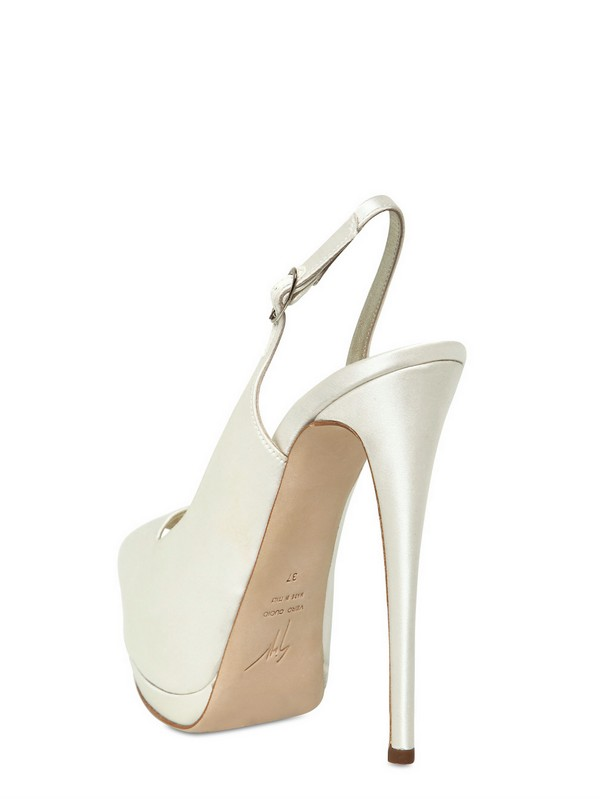 c1f0607b030d ... switzerland lyst giuseppe zanotti 140mm satin open toe sandals in white  3e4dd 4a516