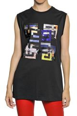 Givenchy Crepe De Chine On Cotton Jersey Tank Top - Lyst