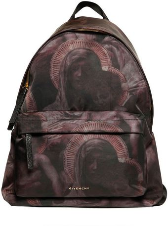 Givenchy Madonna and Child Nylon Canvas Backpack - Lyst