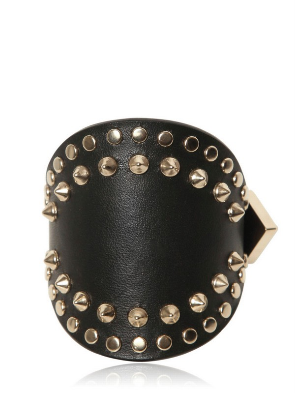 Lyst Givenchy Studded Leather Cuff Bracelet In Metallic