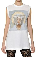 Givenchy Madonna Printed Cotton Jersey Tank Top - Lyst