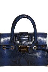 Jimmy Choo Small Rosalie Snake Print Leather Bag - Lyst