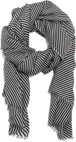 Kelly Wearstler Grey Oblique Scarf  - Lyst
