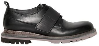 Lanvin Brushed Leather Water Snake Brogues - Lyst