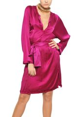 Lanvin Washed Silk Satin Kaftan Dress - Lyst