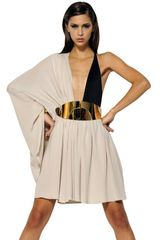 Lanvin Light Silk Crepe Dress - Lyst