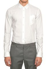 Maison Martin Margiela Folded Pocket Cotton Poplin Shirt - Lyst