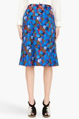 Marc Jacobs Red and Blue Carnation Skirt - Lyst