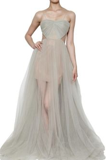 Maria Lucia Hohan Tulle Draped Long Dress - Lyst