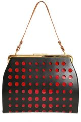 Marni Perforated Leather Patent Shoulder Bag - Lyst