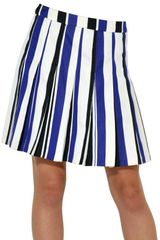 Marni Striped Cotton Pleated Skirt - Lyst
