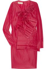 Marni Ruffle Front Taffeta Dress