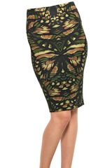 McQ by Alexander McQueen Printed Stretch Skirt - Lyst