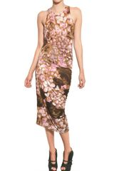 McQ by Alexander McQueen Printed Stretch Cotton Jersey Dress - Lyst