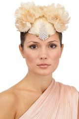 Nana' Ibride Feather with Pearls Hat