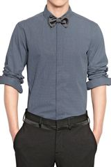 Neil Barrett Polka Dots Cotton Poplin Slim Fit Shirt - Lyst