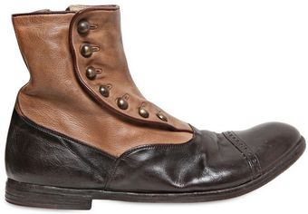 Officine Creative 20mm Ignis Dyed Washed Leather Boots - Lyst