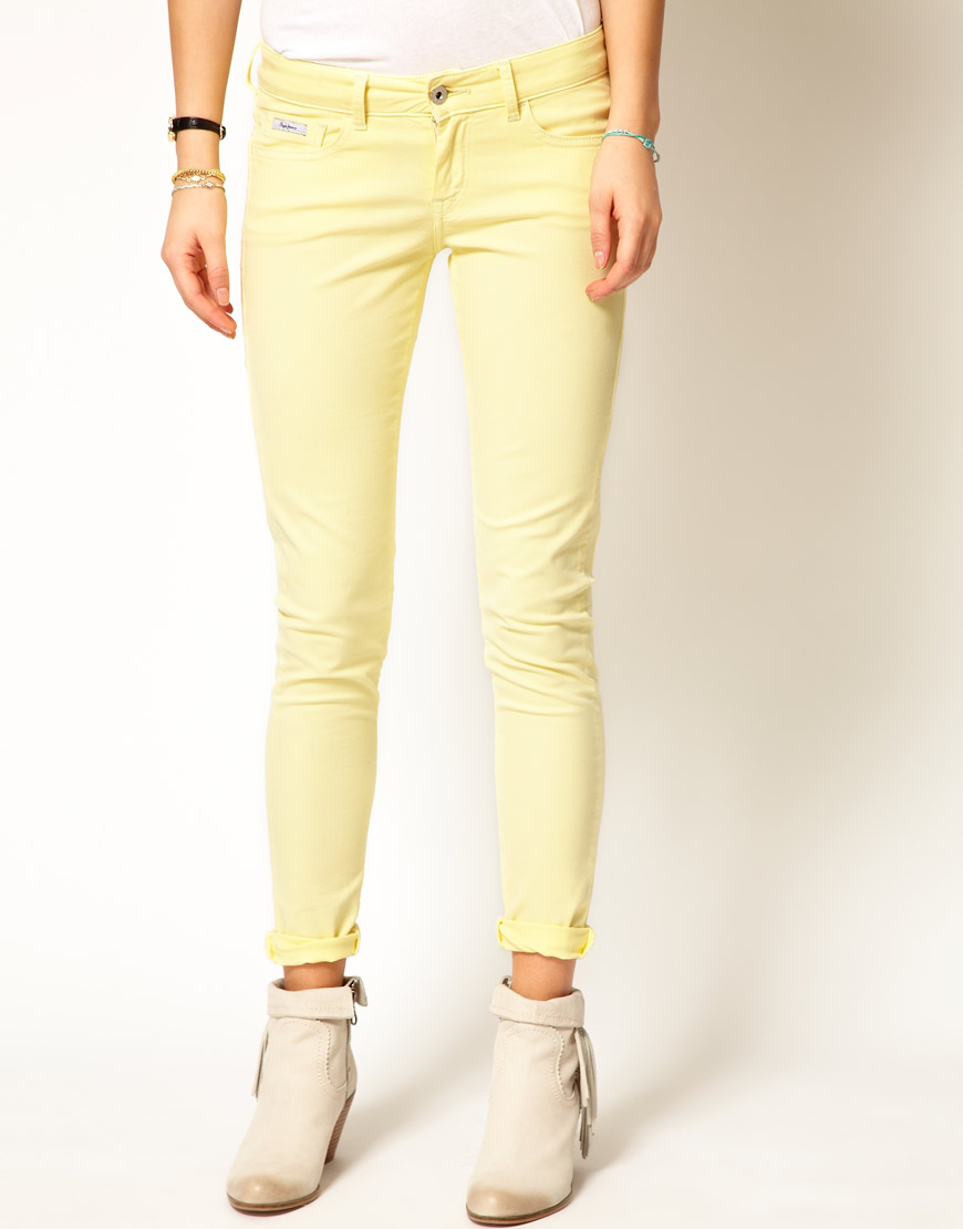Gallery - Pepe Jeans Ritz Pastel Skinny Jeans In Yellow Lyst