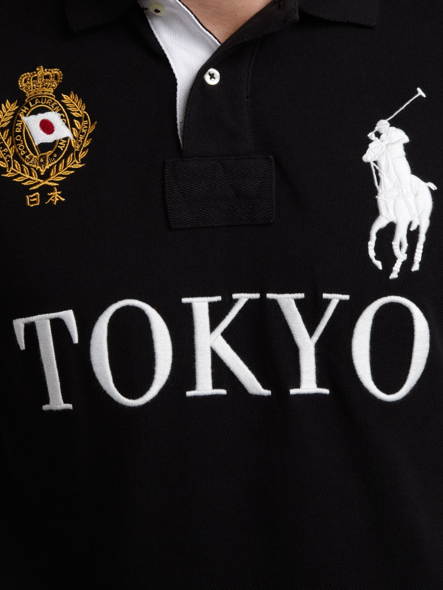 Ralph polo Polo Tokyo Custom Shirt Black Lauren Tokyo PiZwkuOXT