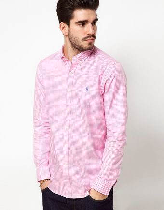 Polo Ralph Lauren Shirt in Pink Gingham - Lyst